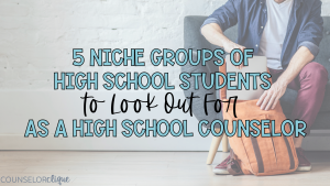 Groups of High School Students